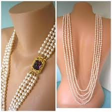 long necklace pearl images Backdrop bridal necklace pearl backdrop necklace amethyst jpg
