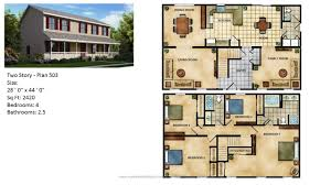 Continental Homes Floor Plans Modular Home Two Story 504 1 Jpg