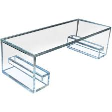 Furniture Fabulous Lucite Table With Plastic Source For Home
