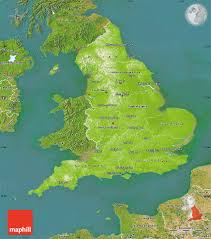 Physical Maps Physical Map Of England Satellite Outside