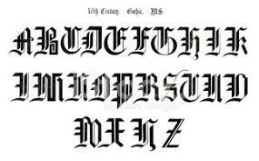 imagenes goticas letras letras góticas de un antiguo manuscrito del siglo xvi vectores en