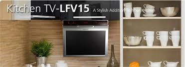 Kitchen Televisions Under Cabinet Clarus Top 131ktv Under Cabinet 13 Inch Kitchen Tv With Built In