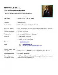 cv resume biodata samples resignation letter example doc
