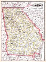 county map ga tunison s and south carolina 1883 bright map showing