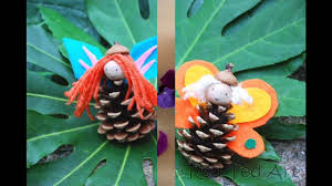 cool pine cone crafts for kids youtube