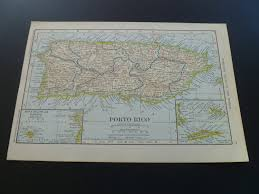 Map Of San Juan Islands Antique Map Of Puerto Rico 1912 Old Vintage Print About Porto