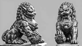 foo dog statues thailand statue foo dog stock image image of thailand 70602647