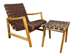 jens risom model 652 lounge chair and ottoman chairish