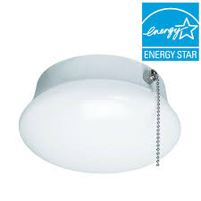 pull string light fixture repair commercial electric 7 in bright white integrated led flushmount