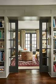 the den at dining in sliding doors into dining room wood no added paint keep