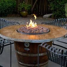 wine barrel fire table vin de flame reserve wine barrel gas fire pit