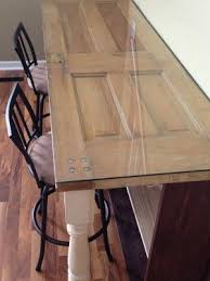 Remodelaholic How To Build A Desk With Wood Top And Metal Legs by Remodelaholic 100 Ways To Use Old Doors Brainstorms