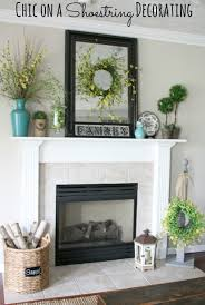 summer mantel turquoise yellow and green by chic on a shoestring