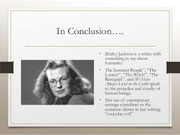 themes in the story the lottery everyday evil in the works of shirley jackson