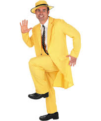 the mask fancy dress costume 90s jim carrey movie yellow gangster