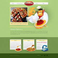 pizza and pasta web template with original illustrations free