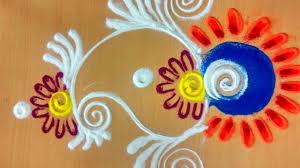 rangoli patterns using mathematical shapes rangoli designs with colours youtube