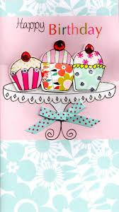cupcakes pretty happy birthday greeting card cards love kates