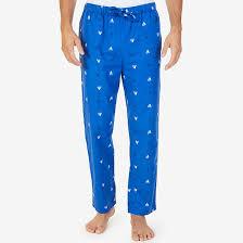 sailboat print flannel pajama pant