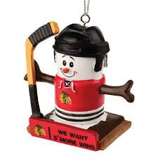collectibles chicago blackhawks s u0027mores snowman christmas ornament