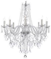Black Traditional Chandelier 8 Light Crystal Chandelier With 33 X28 Traditional Chandeliers And