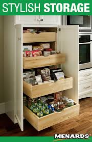 kitchen sink base cabinet menards maximize your pantry storage with medallion cabinetry