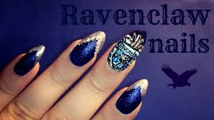 Harry Potter Designs Harry Potter Ravenclaw Nail Art Youtube