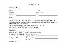 doc 400518 basic job application u2013 job application form free pdf