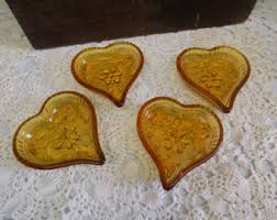 heart shaped crackers glass heart etsy
