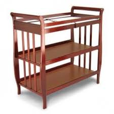 Sleigh Changing Table Unfinished Changing Table Foter