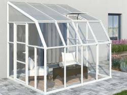 rion sunroom kit 8 x 12 clear acrylic panels palram greenhouse store