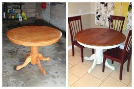 kitchen table refinishing ideas dining room furniture diy farmhouse kitchen table painted with