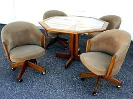 rolling dining room chairs dining room sets with caster chairs awesome rolling dining room