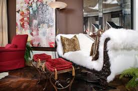 living room luxury cozy living room daybed designed with white fur