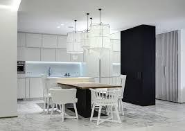 sol cuisine ouverte decoration intérieur blanc cuisine ouverte salle manger chaises