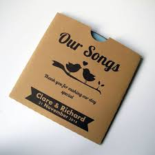 wedding cd favours kraft cd sleeve cd cover customised brown