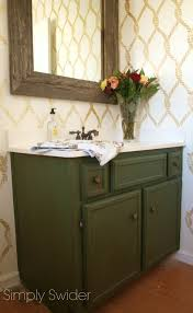 green bathroom vanity makeover simply swider