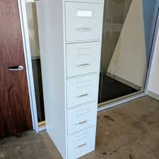 Vertical File Cabinet 5 Drawer Vertical File Cabinet Light Grey Taupe U2013 Used Office