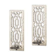 Mirrored Wall Decor by Deco Mirror Wall Sconce Set Wall Sconces Walls And Products