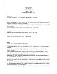 Job Resume Goals And Objectives by Good Objective Resume Samples An Example Of A Good Resume 81