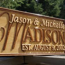 wedding gift signs best custom wood family name signs products on wanelo