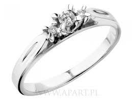pierscionki apart pierścionek zaręczynowy apart z białego złota na pierścionki