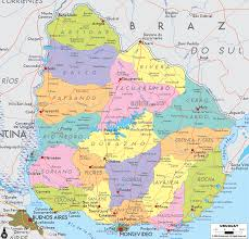 Countries Of South America Map Detailed Clear Large Map Of Uruguay Ezilon Maps