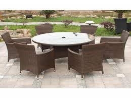Braddock Heights 7 Piece Patio Dining Set Seats 6 - rattan outdoor dining table and chairs firepit dining table