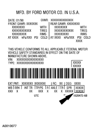 super duty identification codes