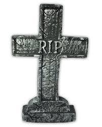 gravestone halloween decorations gravestone cross rip than halloween decoration horror shop com
