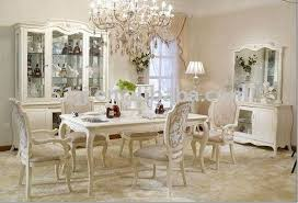 Antique French Provincial Off White Dining Room Set Furniture BJH - French dining room sets