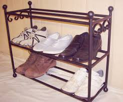 9 pair wrought iron shoe rack handmade uk metal organiser