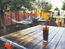 Backyard Beer Garden New East Side Watering Hole Defined By Patio And Pavilion