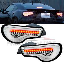Valenti Lights Valenti Full Led Tail Light Clear Chrome Signal Lamp Scion Frs